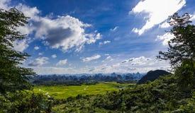 Yangshuo krasu góry krajobraz Zdjęcia Royalty Free