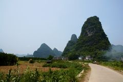 Yangshuo lanscape Royalty Free Stock Image