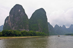 Yangshuo Li Fluss, Guilin lizenzfreie stockfotos