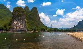 Yangshuo Li River scenery Royalty Free Stock Photography