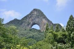 Yangshuo Moon Mountain Royalty Free Stock Photo