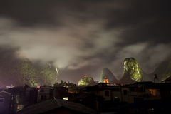 Yangshuo at night Stock Photo
