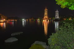 Yangshuo nightscape Royalty Free Stock Photos