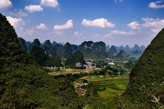 Yangshuo peaks. Karst peaks in Yangshuo, Guilin, China Stock Images