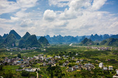 Yangshuo Scenery from China Guilin Royalty Free Stock Photography