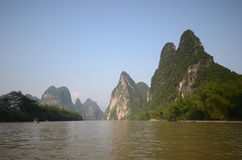 Yangshuo scenery. Green hills in Yangshuo,South China Royalty Free Stock Images