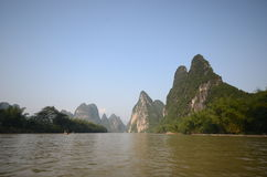 Yangshuo scenery. Green hills in Yangshuo,South China Stock Images