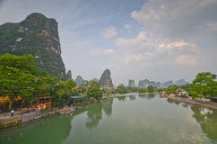 Yangshuo South China. Green hills in Yangshuo,South China Royalty Free Stock Photography