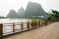 Yangshuo street near Li river Stock Images