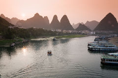 Yangshuo Sunset Royalty Free Stock Photos