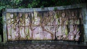 Yangsos Steinstatuenwand im Porzellan lizenzfreie stockbilder