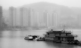 The Yangtse River of peace. The river that silence cleanse my mind Stock Images
