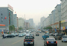 Yangtze  CHINA  14 OKT .2013 the street scene Royalty Free Stock Photos