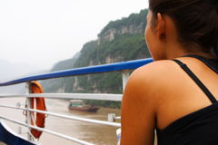 Yangtze cruise in China Royalty Free Stock Photo