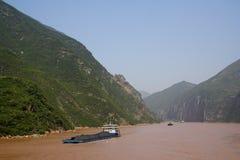 Yangtze-FlussKohletransport Lizenzfreies Stockbild