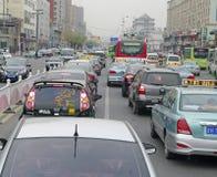 Yangtze KINA 14 OKT 2013 gataplatsen Fotografering för Bildbyråer
