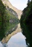 Yangtze piccolo Three Gorges a Wushan Fotografia Stock Libera da Diritti