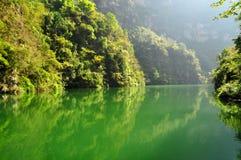 Yangtze piccolo Three Gorges a Wushan Immagine Stock
