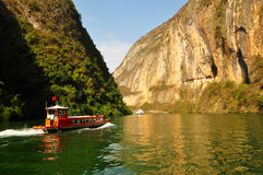 Yangtze piccolo Three Gorges a Wushan Cina Fotografia Stock Libera da Diritti