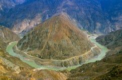 Yangtze River. In Yunnan Province, China Royalty Free Stock Photo