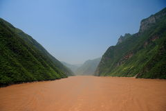 Yangtze river. In China upstream from the three gorges dam Royalty Free Stock Images