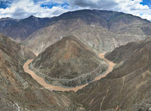 Yangtze river bend, China Royalty Free Stock Photos