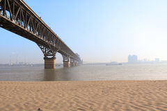 Yangtze river bridge Royalty Free Stock Photos
