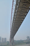 Yangtze River Bridge in fog Royalty Free Stock Photography