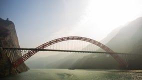 Yangtze River bro Royaltyfri Bild