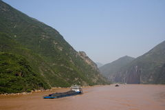 Yangtze river coal transport Royalty Free Stock Image