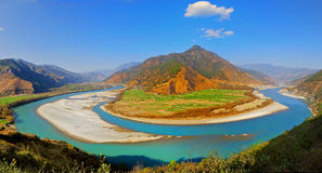 Yangtze River First Bay. The first is located in the Yangtze River Bay Chinese city of Lijiang in Yunnan Province town of Shek Kwu, Taotao river from the Qinghai Stock Photos