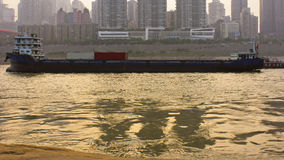 The Yangtze River freighter Royalty Free Stock Photo