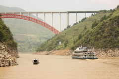 Yangtze river in a morning haze stock photo
