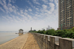 The yangtze river next to a city Stock Photography
