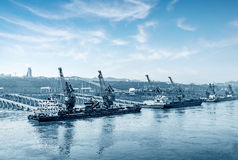 Yangtze River pier Stock Image
