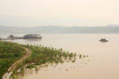 Yangtze river rural landscape Stock Photography