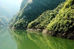 Yangtze river scene. Lush greenery along yangtze river Royalty Free Stock Photography