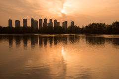 The Yangtze River sunset Royalty Free Stock Photography