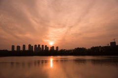 The Yangtze River sunset Stock Photos