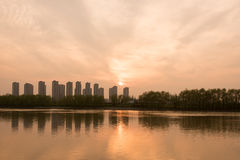 The Yangtze River sunset Stock Image