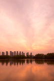 The Yangtze River sunset Stock Photo