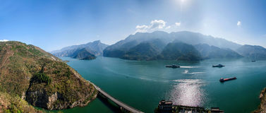 Yangtze River Three Gorges Qutangxia Fengjie River waters Royalty Free Stock Image