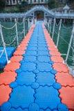 Yangtze River Three Gorges Wu Gorge Qingshi Township pontoon Stock Photography
