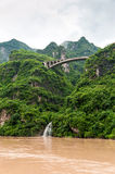 Yangtze River with a view of the falls Stock Photography