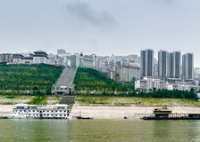 Yangtze River with views of the city Stock Images