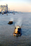 The Yangtze river in Wuhan city Stock Images