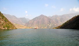 Yangtze Small Three Gorges At Wushan China Royalty Free Stock Photography