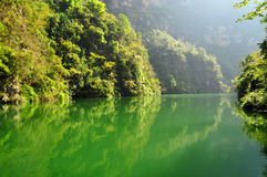 Yangtze Small Three Gorges At Wushan Stock Image