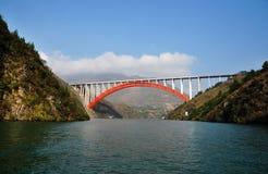 Yangtze Three Gorges pequeno em Wushan China Foto de Stock Royalty Free