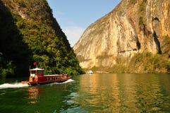 Yangtze Three Gorges pequeno em Wushan China Fotografia de Stock Royalty Free